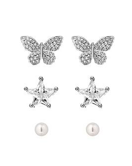 Jon Richard Star & Butterfly Earing