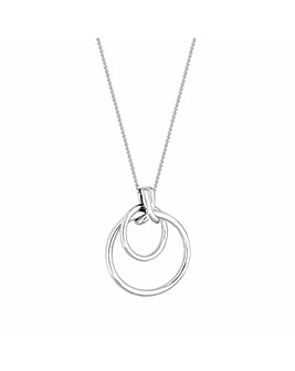 Simply Silver Double Open Kiss Necklace