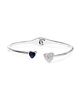 Jon Richard Blue Heart Bangle