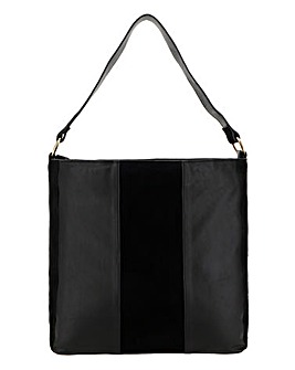 Structured Leather Hobo Bag