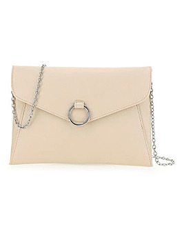 Circle Trim Envelope Clutch Bag