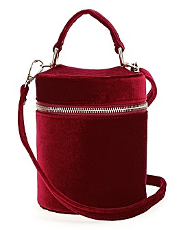 Velvet Barrel Bag