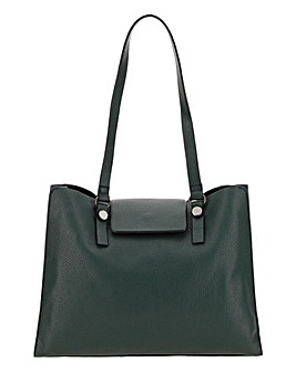 Square Foldover Slouch Tote