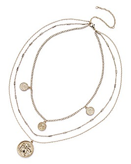 Multi Row Coin Necklace