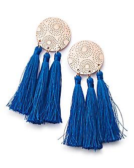 Disc And Tassel Earrings