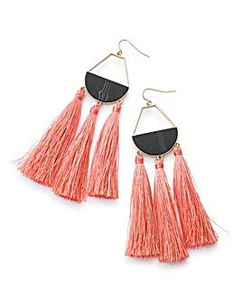 Fabric Fringe Earrings