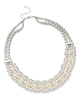Joanna Hope Faux Pearl Necklace