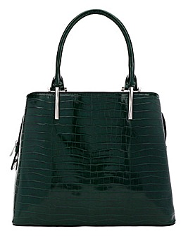 Green Croc Tote Bag