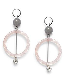 Resin Circle Earrings