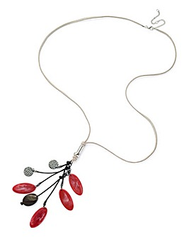 Cluster Suede Necklace