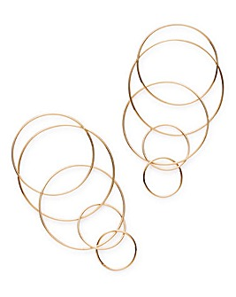 Multi Loop Drop Earrings