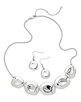 Organic Necklace And Earrings Set