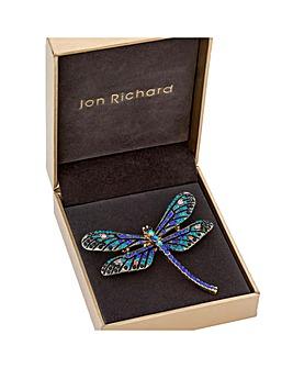 Jon Richard Blue Pave Dragonfly Brooch