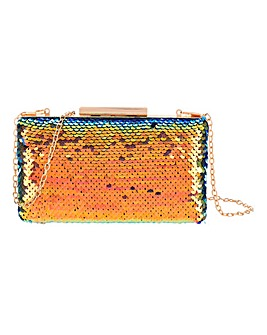 Sequin Iridescent Clutch Bag