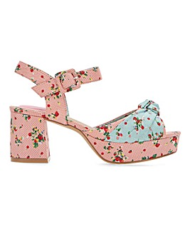 Joe Browns Floral Platform Shoe E Fit