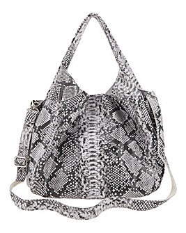 Joanna Hope Snake Print Leather Bag