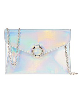 Holographic Lizard Print Bag