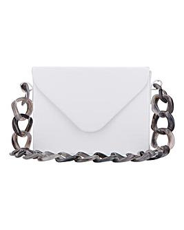 Resin Link Detail White Bag