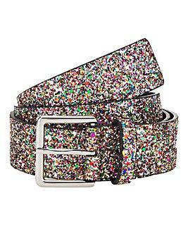 Multi Glitter Jeans Belt