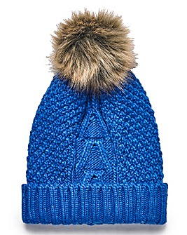 Knitted Pom Pom Bobble Hat