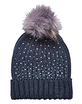 Joanna Hope Sparkle Bobble Hat