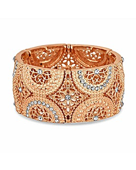 Mood Rose Gold Filigree Stretch Bracelet