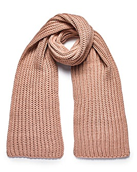 CLARA RIBBED KNIT SCARF