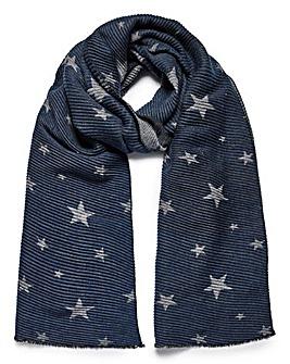 Reversible Crinkle scarf