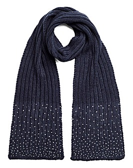 Joanna Hope Navy Sparkle Scarf