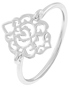 Accessorize Sterling Silverfiligree Ring