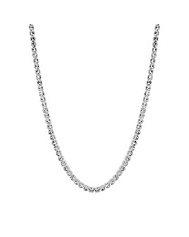 Mood Silver Crystal Choker Necklace