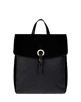 Accessorize Ring Tab Leather Backpack