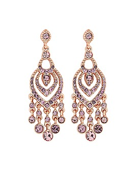 Mood Rose Pink Chandelier Drop Earring