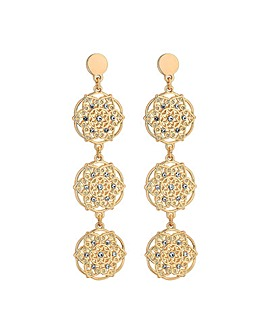 Mood Rose Gold Filigree Drop Earrings