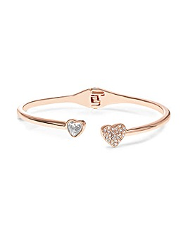 Jon Richard Rose Gold Heart Bangle