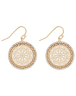 Accessorize Filigree Diamante Earrings