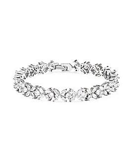 Jon Richard Silver Floral Bracelet