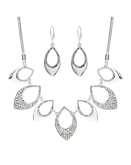 Mood Silver Plated Pave And Polish Set