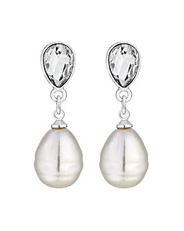 Mood Silver Pearl Drop Earring