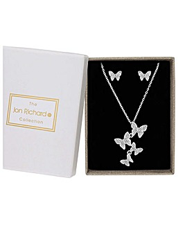 Jon Richard Butterfly Necklace Set