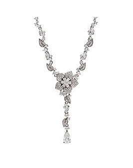 Jon Richard Silver Flower Necklace