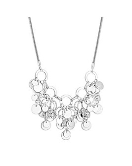 Mood Silver Multiring Shaker Necklace