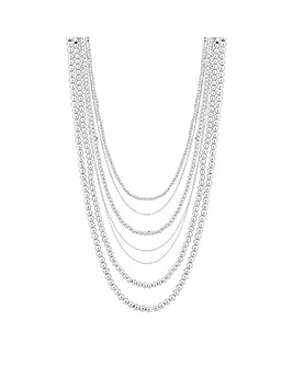 Mood Silver Multi-Row Necklace