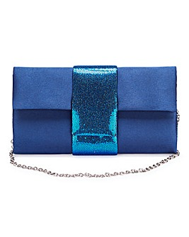 Metallic Panel Clutch Bag