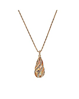 Jon Richard Rose Gold Cage Necklace