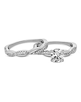 Simply Silver Infinity Ring Set