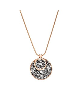 Jon Richard Rose Gold Pendant Necklace