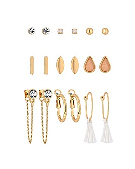 Mood Gold Plated 9 Pack Stud Earring