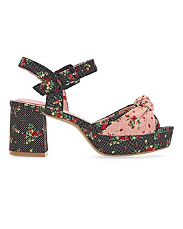 Joe Browns Floral Platform Shoe E Fit
