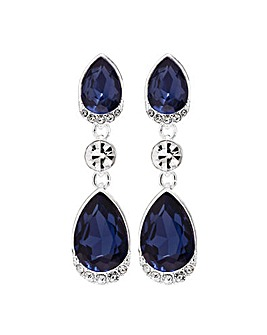 Jon Richard Blue Pear Drop Earrings